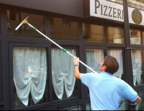 Tradtional Window Cleaning with Extension Pole